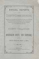 Thumbnail image of Rockingham County Commissioners 1884 Report cover