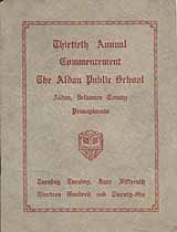 Thumbnail image of Aldan Public School 1926 Commencement cover