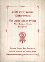 Thumbnail image of Aldan Public School 1927 Commencement cover