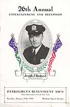 Thumbnail image of New York City Patrolmen's Benevolent Association 1940 Reception cover