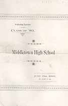 Thumbnail image of Middletown High School 1889 Graduating Exercises cover