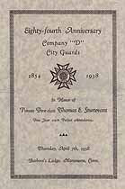 Thumbnail image of Company D, City Guards, 1938 Anniversary Program cover