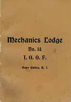 Thumbnail image of Mechanics Lodge I.O.O.F. 1909 By-Laws cover