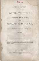 Thumbnail image of Rochester Orphans' Home 1864-1865 Report cover