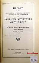 Thumbnail image of American Instructors of the Deaf 1941 Necrology cover