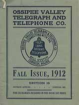 Thumbnail image of Ossipee Valley Fall 1912 Telephone Directory cover