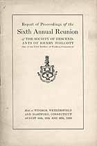 Thumbnail image of Society of Descendants of Henry Wolcott 1910 Reunion cover