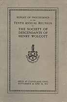 Thumbnail image of Society of Descendants of Henry Wolcott 1914 Reunion cover