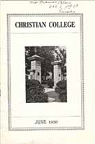 Thumbnail image of Christian College 1930 Alumni Newsletter cover