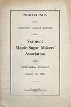 Thumbnail image of Vermont Maple Sugar Makers' Association 1913 Report cover