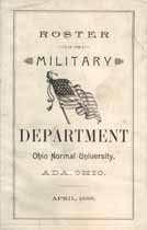 Thumbnail image of Ohio Normal University 1888 Military Roster cover