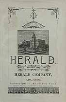 Thumbnail image of Ohio Normal University 1887 Herald, Vol. 3, No. 5 cover