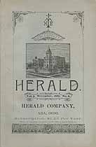 Thumbnail image of Ohio Normal University 1887 Herald, Vol. 3, No. 6 cover