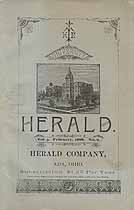 Thumbnail image of Ohio Normal University 1888 Herald, Vol. 3, No. 9 cover
