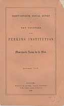 Thumbnail image of Perkins' Institution and Massachusetts Asylum for the Blind 1868 Report cover