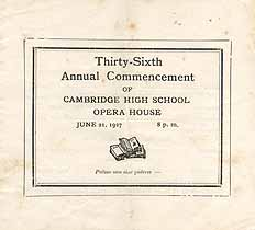 Thumbnail image of Cambridge High School 1927 Commencement cover