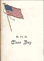 Thumbnail image of B. H. S. Class Day 1917 cover