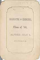 Thumbnail image of Alfred 1886 Graduating Exercises cover
