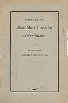 Thumbnail image of New Mexico 1912 Mining Accidents cover