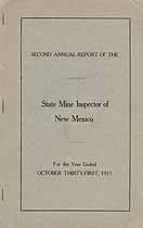 Thumbnail image of New Mexico 1913 Mining Accidents cover
