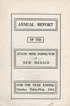 Thumbnail image of New Mexico 1914 Mining Accidents cover