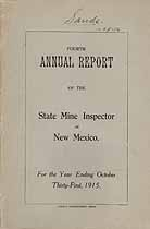 Thumbnail image of New Mexico 1915 Mining Accidents cover