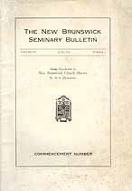 Thumbnail image of The New Brunswick Seminary June 1931 Bulletin cover