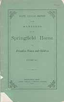 Thumbnail image of Springfield Home for Friendless Women and Children 1871 Report cover