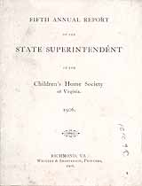 Thumbnail image of Virginia Children's Home Society 1906 Report cover