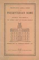 Thumbnail image of Presbyterian Home for Aged Women in New York City 1895 Report cover