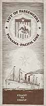 Thumbnail image of S. S. Manchuria 1927 Souvenir Passenger List (New York to San Francisco) cover