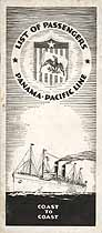 Thumbnail image of S. S. Manchuria 1927 Souvenir Passenger List (San Francisco to New York) cover
