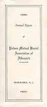 Thumbnail image of Palmer Mutual Burial Association of Albemarle 1942 Report cover