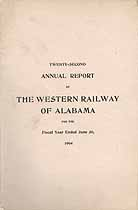 Thumbnail image of The Western Railway of Alabama 1904 Officers cover