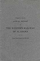 Thumbnail image of The Western Railway of Alabama 1907 Officers cover
