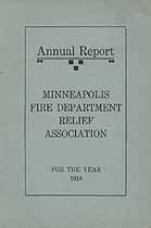 Thumbnail image of Minneapolis Fire Department Relief Association 1918 Report cover