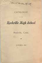Thumbnail image of Rockville High School 1896-1897 Catalogue cover