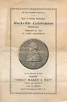 Thumbnail image of Rockville Washington Birthday 1932 Celebration Program cover