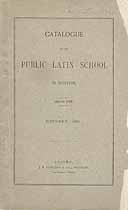 Thumbnail image of Boston Public Latin School 1894 Catalogue cover