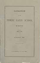 Thumbnail image of Boston Public Latin School 1896 Catalogue cover