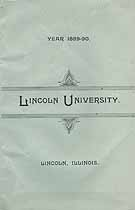 Thumbnail image of Lincoln University 1889-90 Catalogue cover