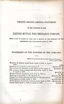 Thumbnail image of Illinois Mutual Fire Insurance Company 1861 Report cover