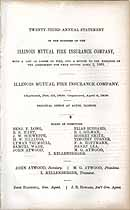Thumbnail image of Illinois Mutual Fire Insurance Company 1862 Report cover