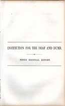 Thumbnail image of Illinois Deaf and Dumb Institution 1861-62 Report cover