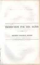 Thumbnail image of Illinois Institution for the Blind 1861-1862 Report cover