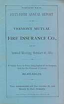 Thumbnail image of Vermont Mutual Fire Ins. 55th Annual Report cover