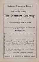 Thumbnail image of Vermont Mutual Fire Ins. 66th Annual Report cover