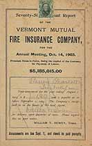 Thumbnail image of Vermont Mutual Fire Ins. 76th Annual Report cover