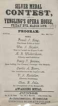 Thumbnail image of Yengling's Opera House 1888 Silver Medal Contest Program cover