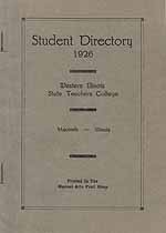 Thumbnail image of Western Illinois Teachers College 1926 Directory cover